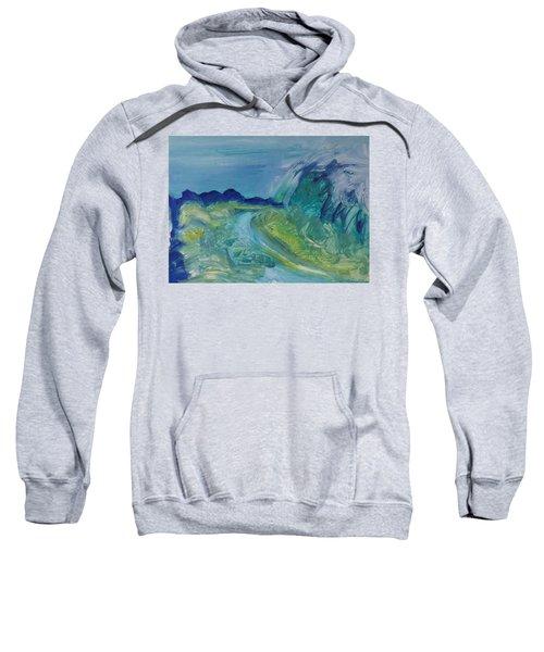Blue River Landscape I, 1988 Oil On Canvas Sweatshirt
