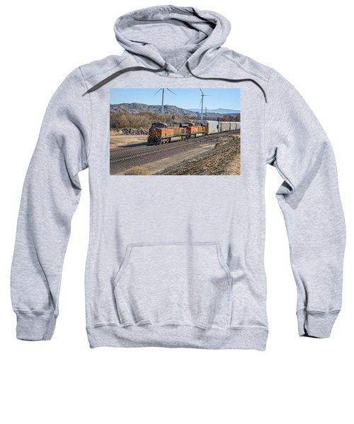 Sweatshirt featuring the photograph Bnsf 7454 by Jim Thompson