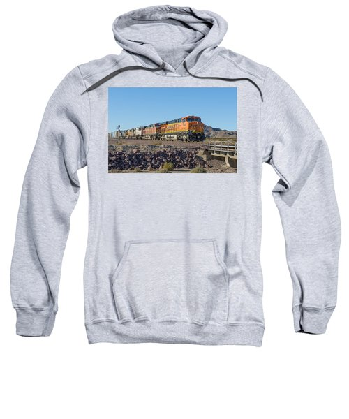 Sweatshirt featuring the photograph Bnsf 7649 by Jim Thompson