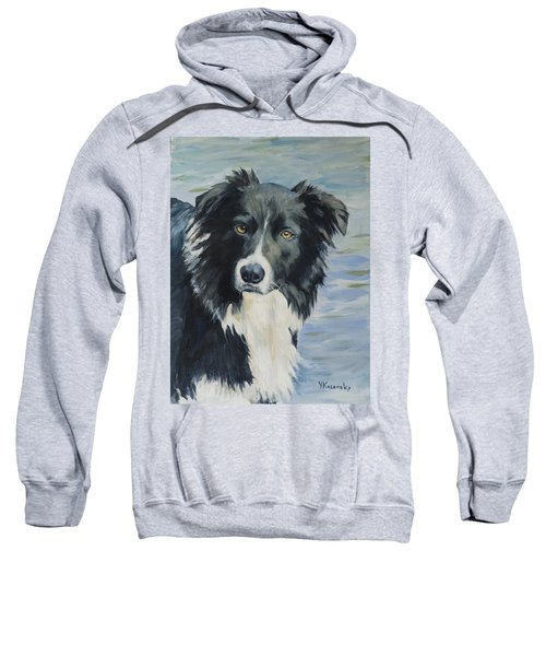 Border Collie Portrait Sweatshirt