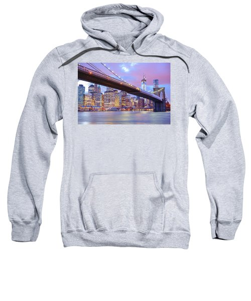Brooklyn Bridge And New York City Skyscrapers Sweatshirt