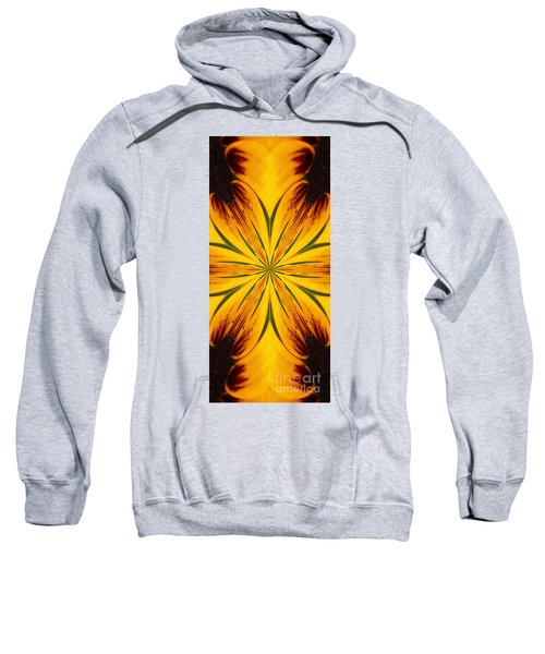 Brown And Yellow Abstract Shapes Sweatshirt
