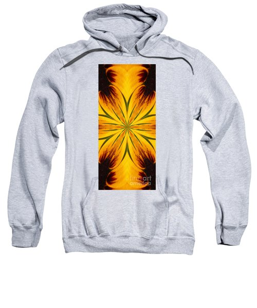 Brown And Yellow Abstract Shapes Sweatshirt