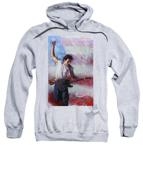 Bruce Springsteen The Boss Sweatshirt by Viola El