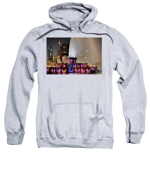 Buckingham Fountain Aglow Sweatshirt