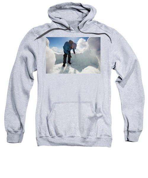Building An Igloo On Seymour Mountain Sweatshirt