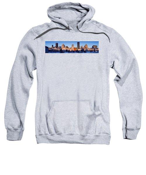 Buildings In Winter, Montreal, Quebec Sweatshirt