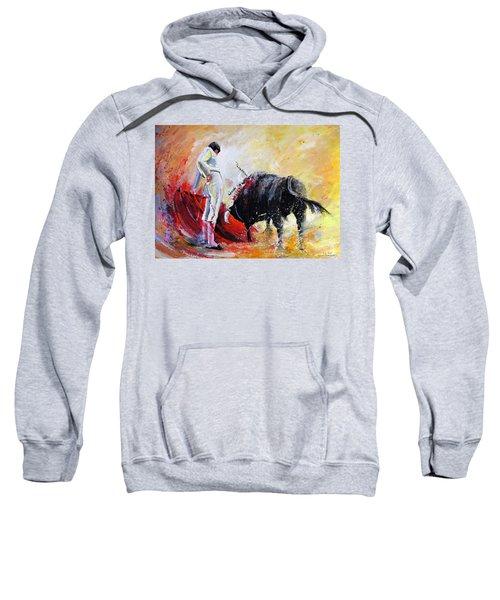 Bull In Yellow Light Sweatshirt
