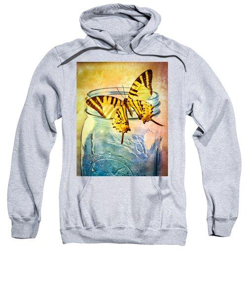 Butterfly Blue Glass Jar Sweatshirt