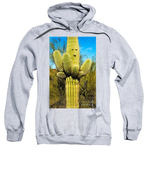 Sweatshirt featuring the photograph Cactus Face by Mae Wertz