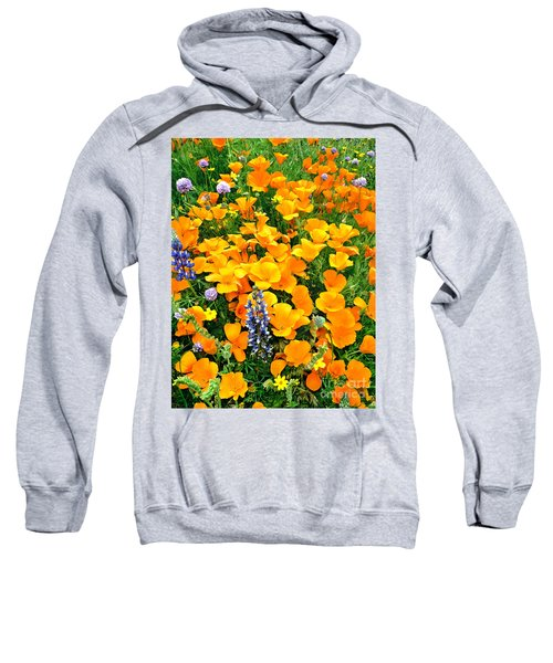 California Poppies And Betham Lupines Southern California Sweatshirt