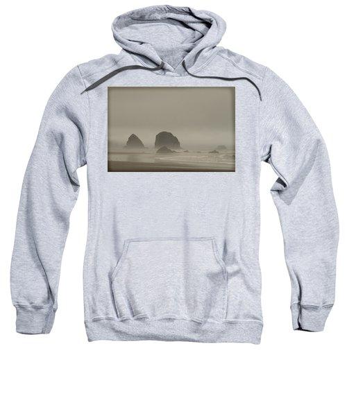 Cannon Beach In A Fog Oregon Sweatshirt