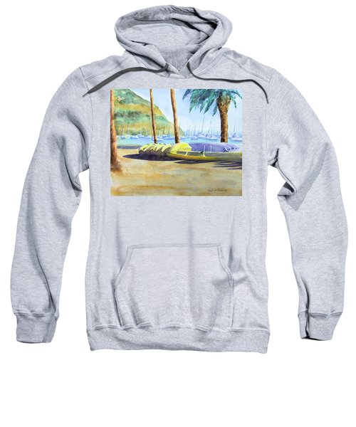 Canoes And Surfboards In The Morning Light - Catalina Sweatshirt