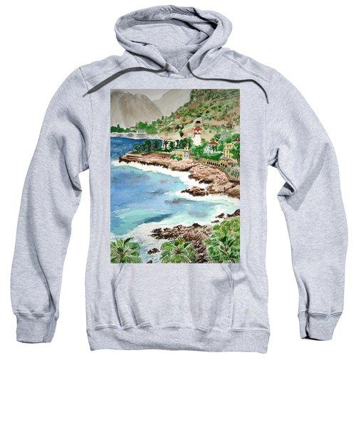 Cap D'ail On A Rainy Day Sweatshirt