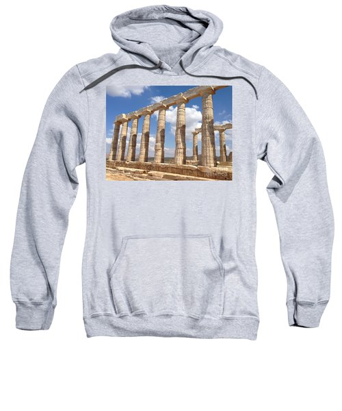 Sweatshirt featuring the photograph Cape Sounion by Denise Railey