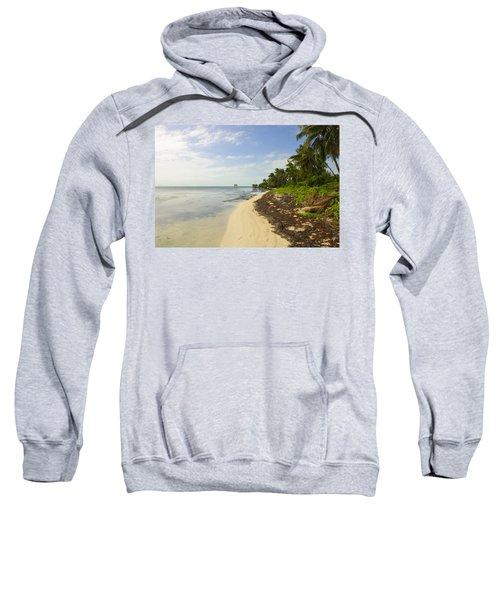Caribbean Beach In Ambergris Caye Belize Sweatshirt