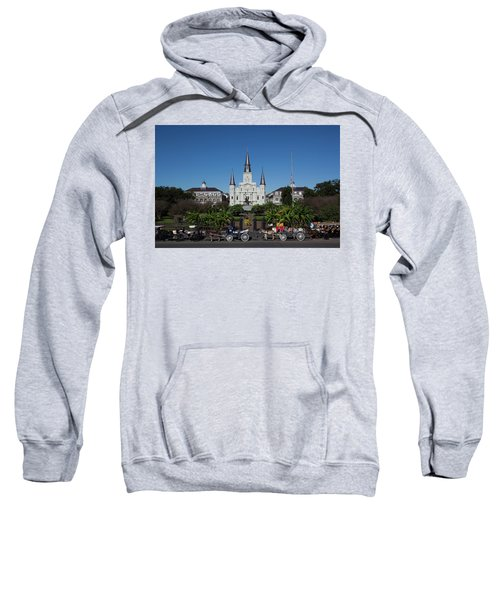 Carriages In Front Of A Cathedral, St Sweatshirt