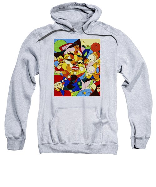 Cartoon Painting With Hidden Pictures Sweatshirt
