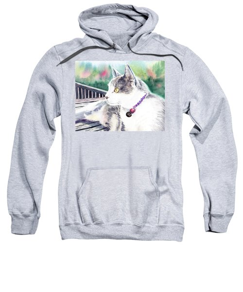Cat Sweatshirt by Irina Sztukowski