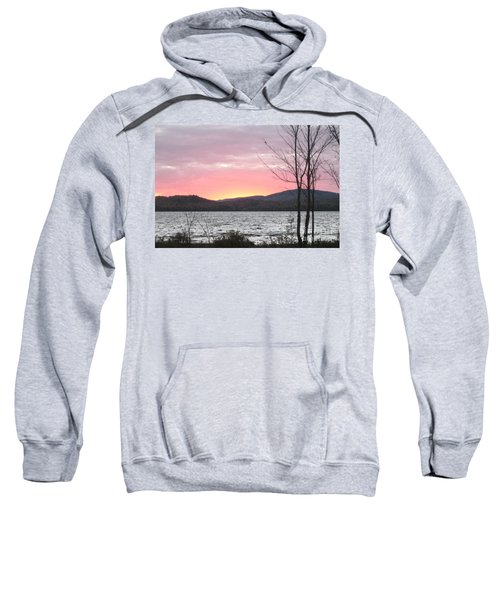 Caucomgomoc Lake Sunset In Maine Sweatshirt