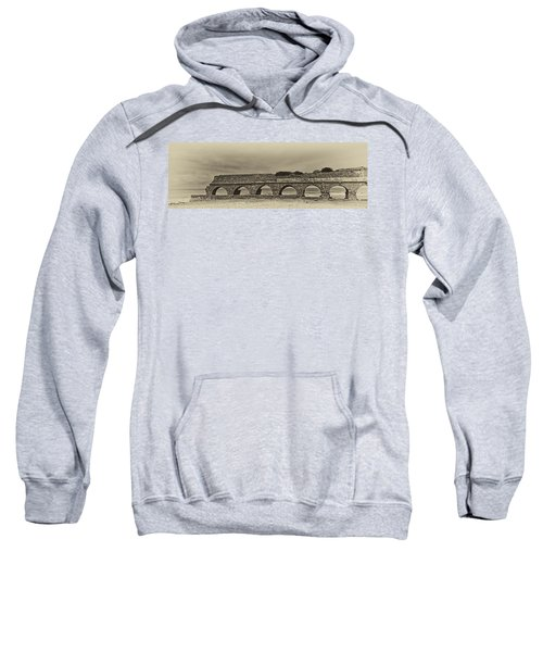 Ceasarea Aqueduct 1 Antiqued Sweatshirt