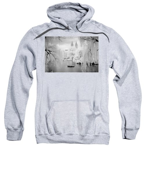 Central Park Lake-infrared Willows Sweatshirt