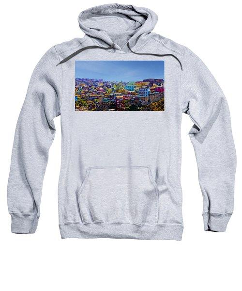 Cerro Artilleria Valparaiso Chile Sweatshirt