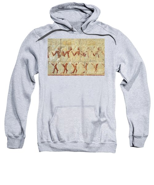 Chapel Of Hathor Hatshepsut Nubian Procession Soldiers - Digital Image -fine Art Print-ancient Egypt Sweatshirt