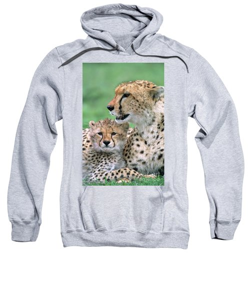 Cheetah Mother And Cub Sweatshirt