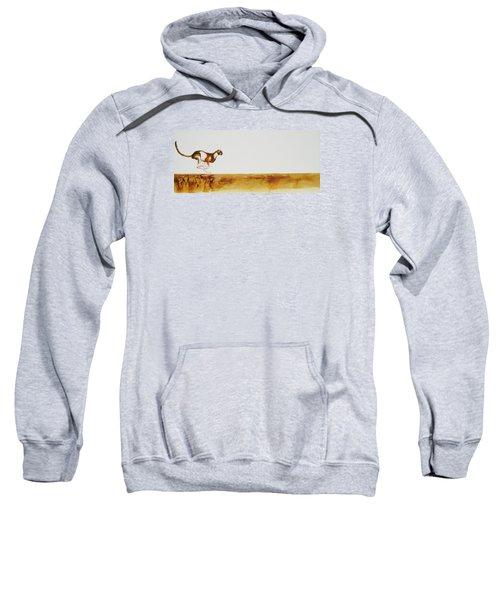 Cheetah Race - Original Artwork Sweatshirt
