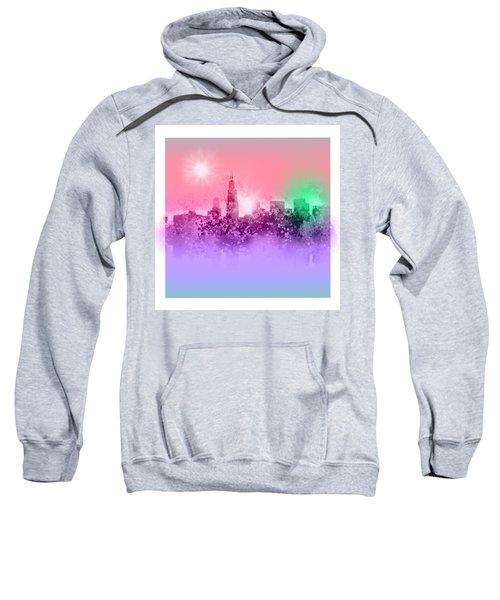 Chicago Skyline Abstract 3 Sweatshirt