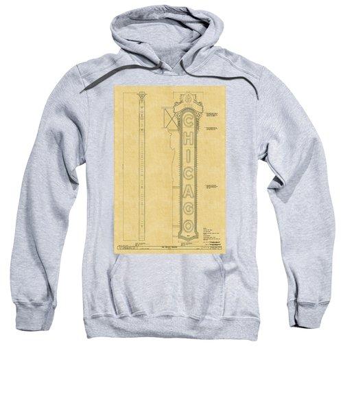 Chicago Theatre Blueprint Sweatshirt