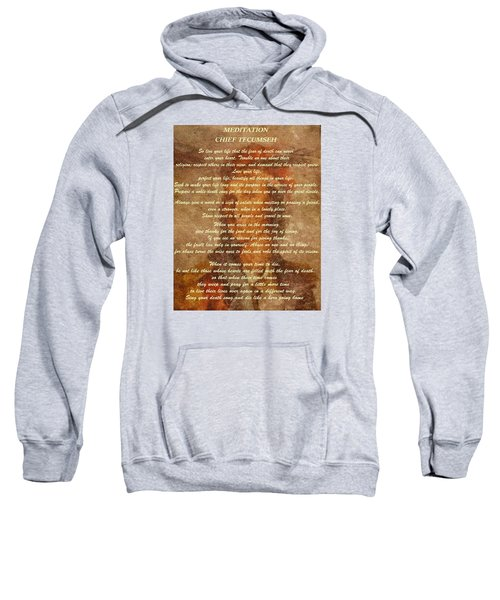 Chief Tecumseh Poem Sweatshirt