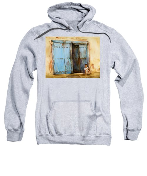Child Sitting In Old Zanzibar Doorway Sweatshirt