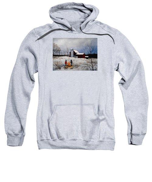 Children Warming Up By The Fire Sweatshirt