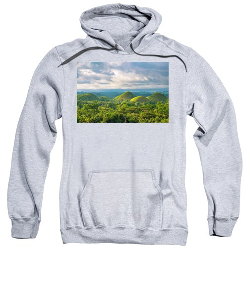 Chocolate Hills In Late Afternoon Sweatshirt