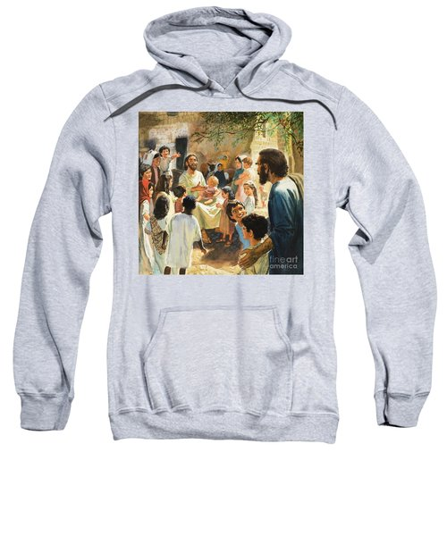 Christ With Children Sweatshirt