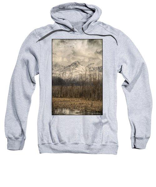 Chugach Mountains In Storm Sweatshirt