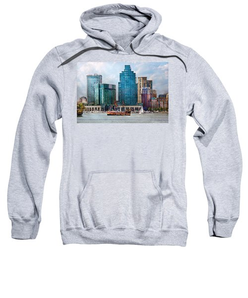 City - Baltimore Md - Harbor East  Sweatshirt