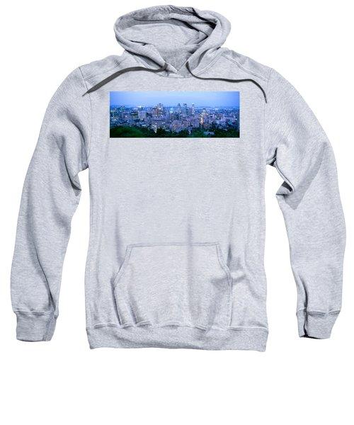 Cityscape At Dusk, Montreal, Quebec Sweatshirt