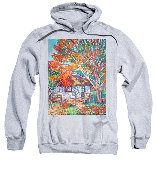 Claytor Lake Cabin In Fall Sweatshirt