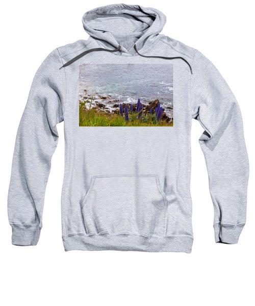 Coastal Cliff Flowers Sweatshirt