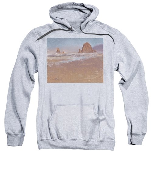 Coastal Escape  Cannon Beach Oregon And Haystack Rock  Sweatshirt