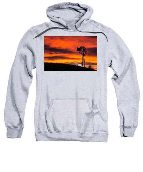 Cobblestone Windmill At Sunset Sweatshirt