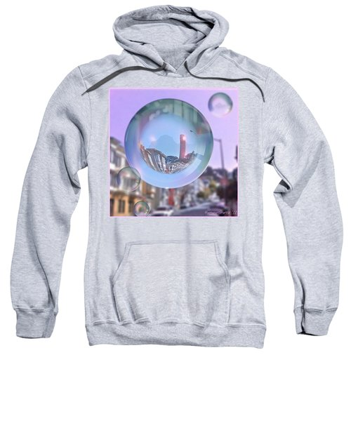Coit Tower In A Bubble And Purple Sky Sweatshirt by Anna Porter