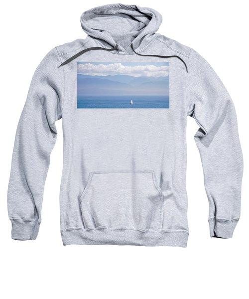 Colors Of Alaska - Sailboat And Blue Sweatshirt