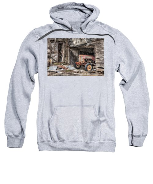Comfortable Chaos - Old Tractor At Rest - Agricultural Machinary - Old Barn Sweatshirt