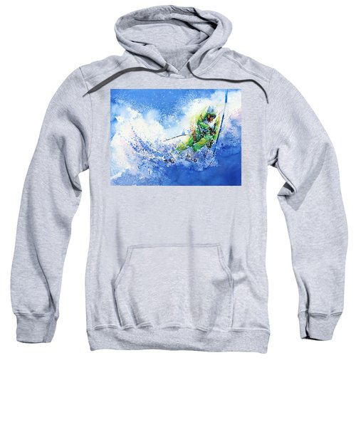 Sweatshirt featuring the painting Competitive Edge by Hanne Lore Koehler