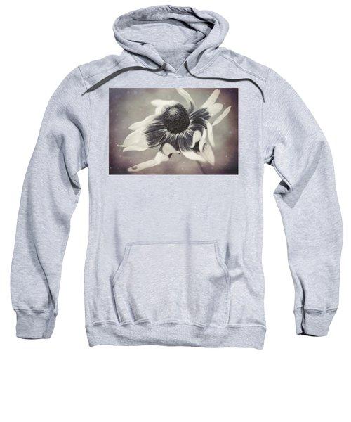 Coneflower In Monochrome Sweatshirt