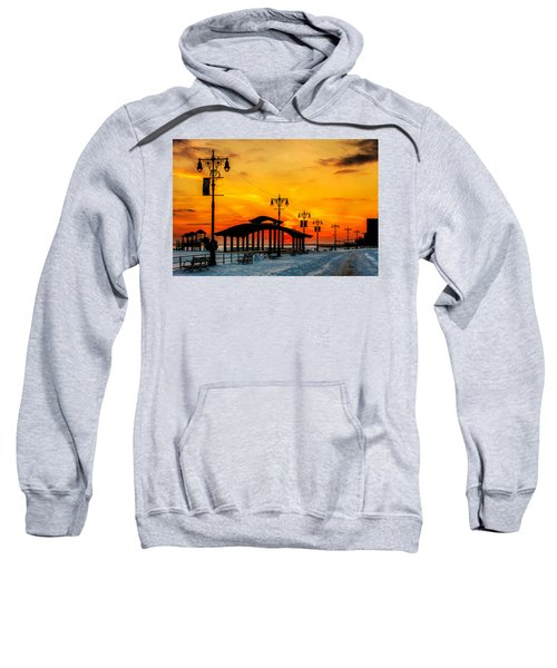 Coney Island Winter Sunset Sweatshirt